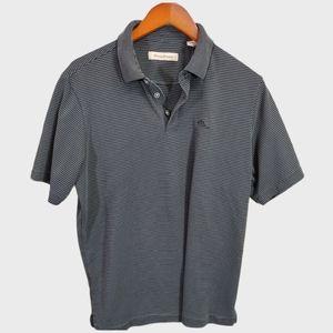 Tommy Bahama Black Polo Shirt-Med